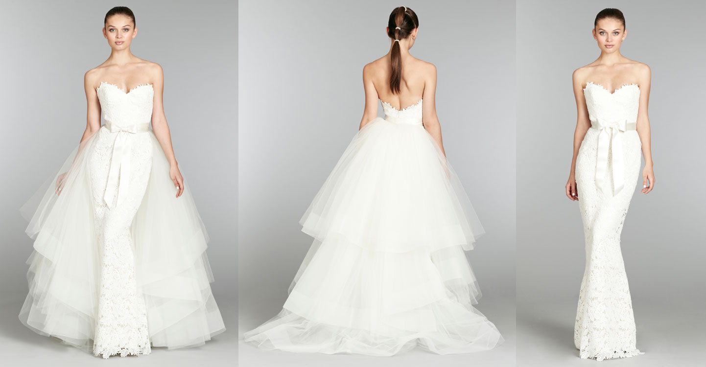Strapless Wedding Dress With Detachable Skirt Raveitsafe
